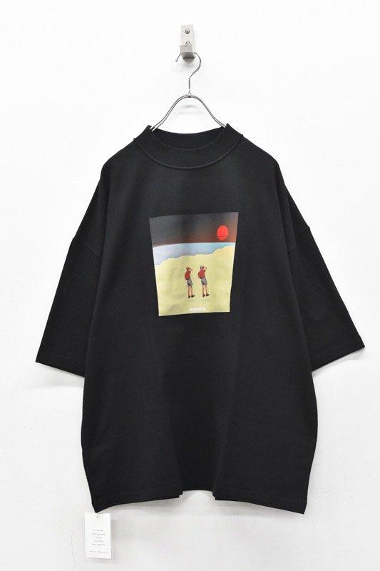 elephant TRIBAL fabrics / Inside Out Fat T(sunset) - BLACK