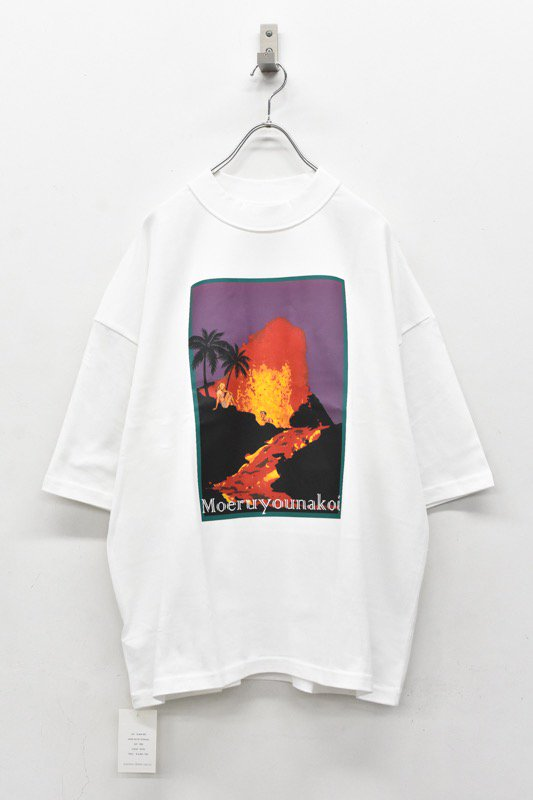 elephant TRIBAL fabrics / Inside Out Fat T(Volcano) - WHITE