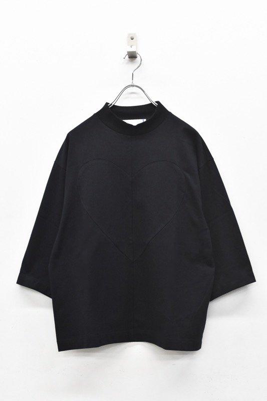 youmolaugh / ドッキンコ7分袖Tシャツ - BLACK