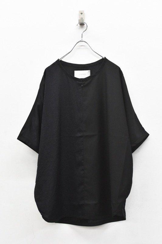 prasthana / slick shirt discord - BLACK