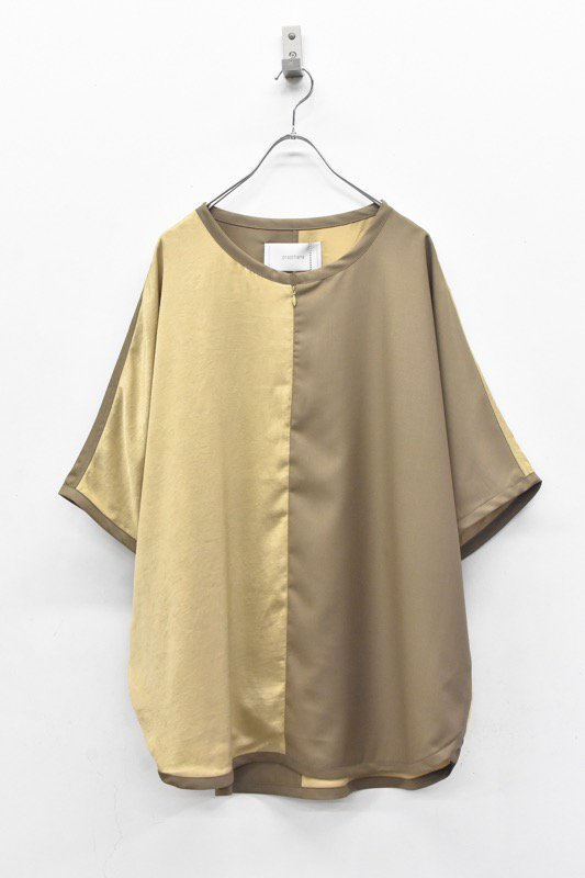 prasthana / slick shirt discord - BEIGE
