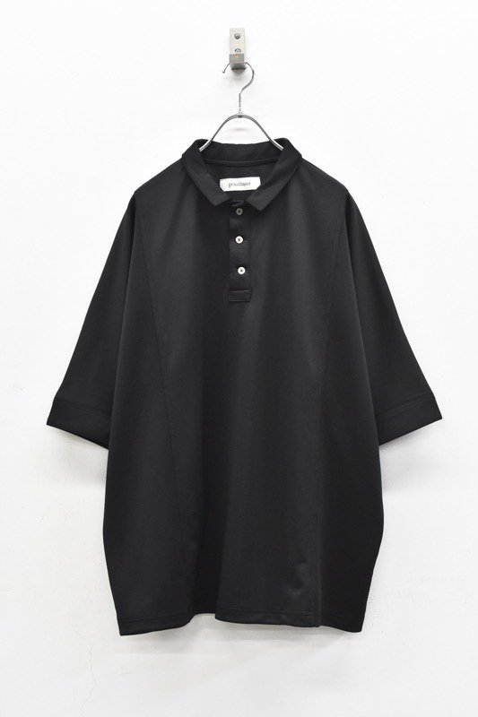 prasthana / dolman sleeve big polo - BLACK