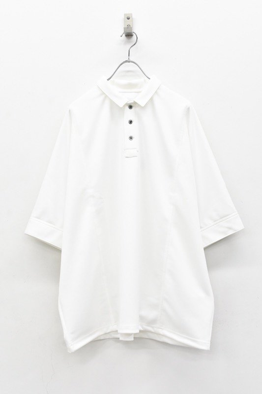 prasthana / dolman sleeve big polo - WHITE