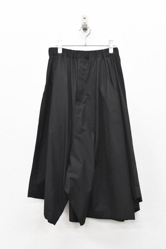 RIDDLEMMA / Three legs pants HALF - BLACK
