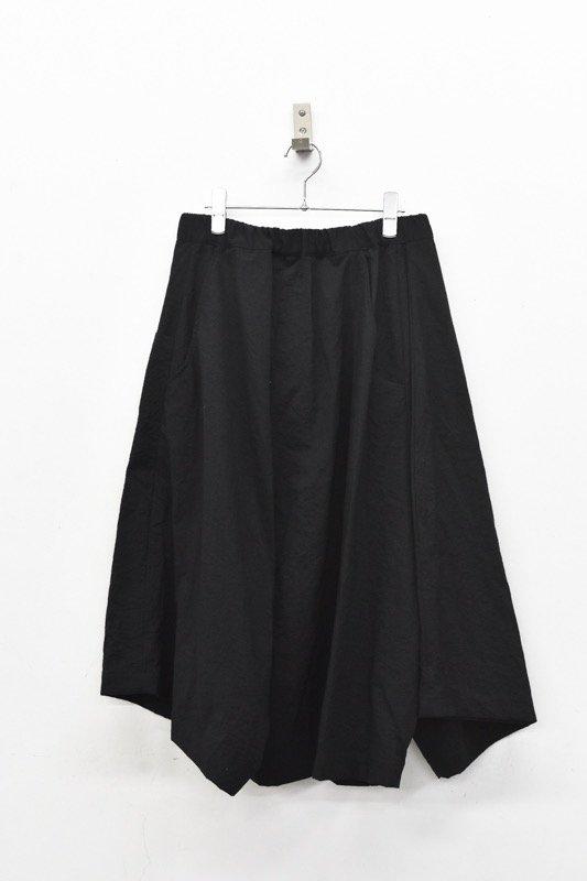 RIDDLEMMA / Three legs pants HALF - NYLON BLACK