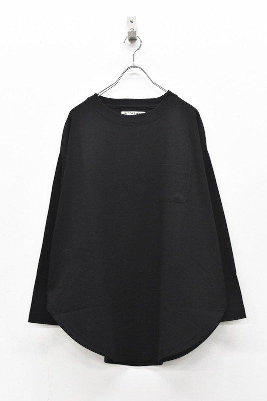 RIDDLEMMA / Circle pocket long T shirt Φ80 - BLACK