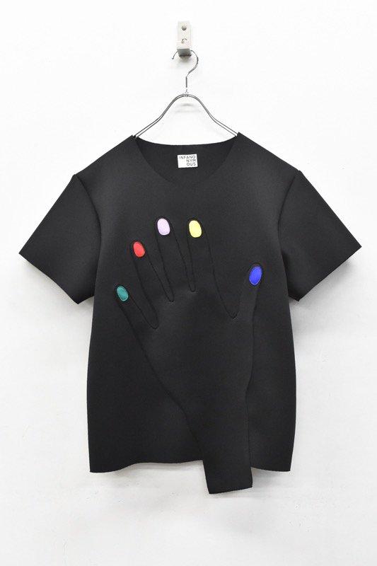 先行予約 INFANONYMOUS / Colorful Nails T shirts - BLACK
