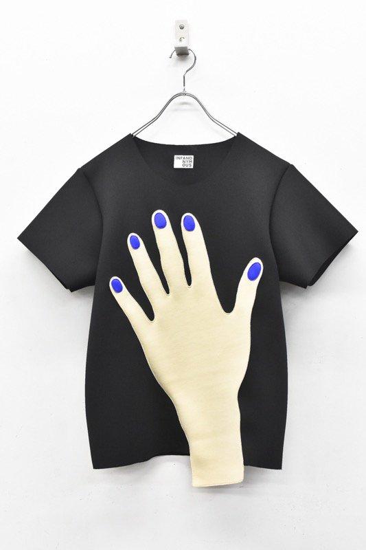 先行予約 INFANONYMOUS / Blue Nails T shirts - BLACK