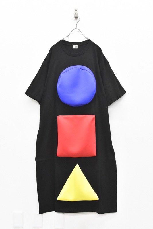 先行予約 INFANONYMOUS / 3D ○□△ T dress - BLACK