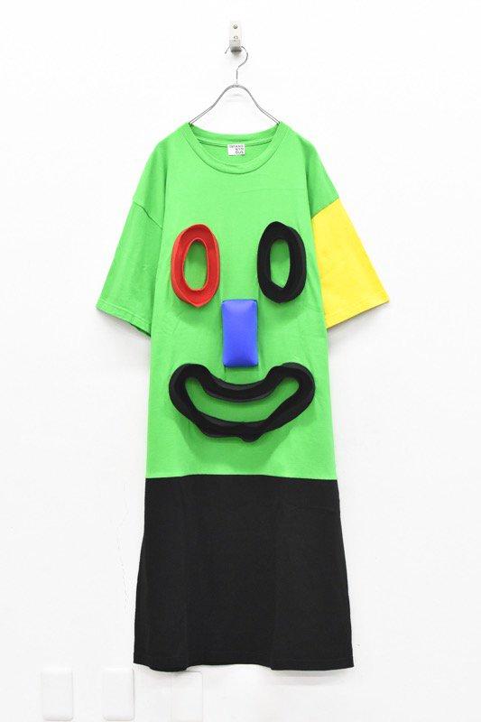 先行予約 INFANONYMOUS / 3D Smile T dress - GREEN