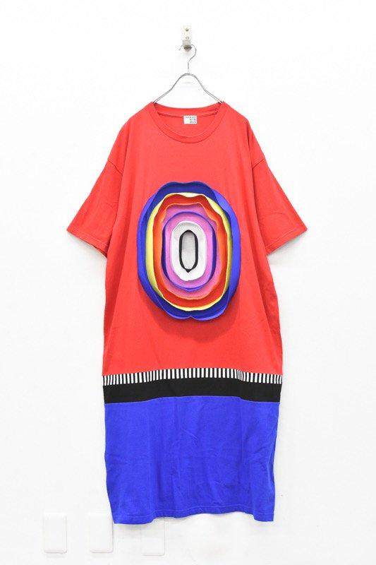 先行予約 INFANONYMOUS / 3D Colorful Oval T dress - RED