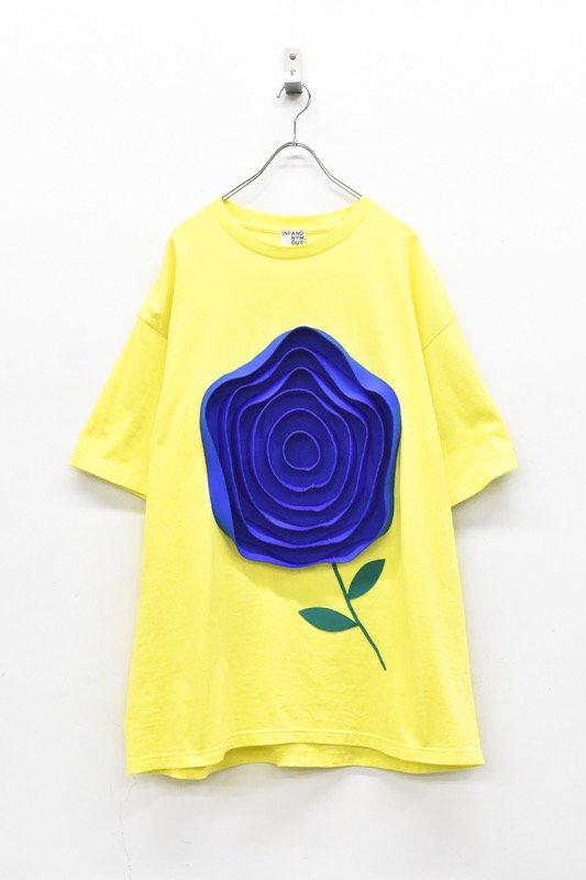 先行予約 INFANONYMOUS / 3D blue Rose T shirt - YELLOW