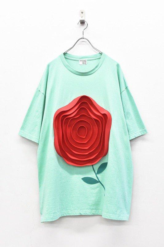 先行予約 INFANONYMOUS / 3D Red Rose T shirt - MINT