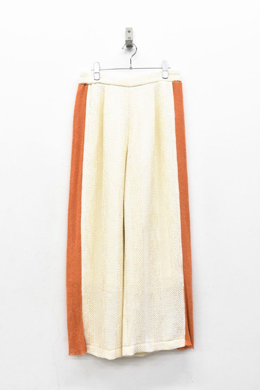 YUKI SHIMANE / Side knit line Pants - ORANGE