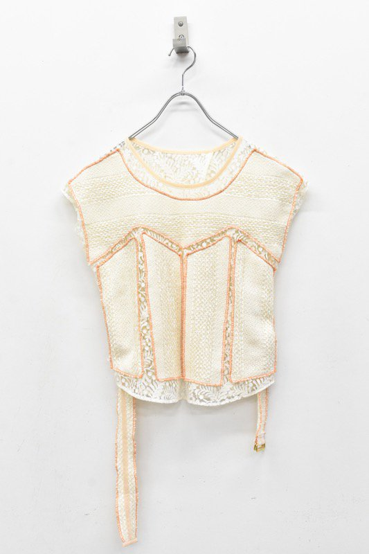 YUKI SHIMANE / Morning glory Lace top - ORANGE