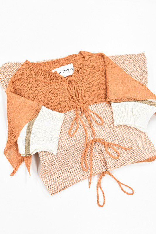YUKI SHIMANE / Lala hand knit dress - ORANGE