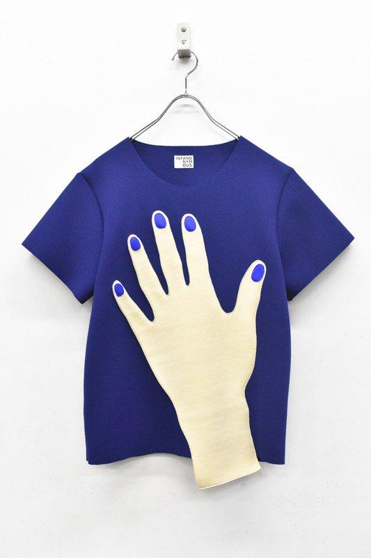 INFANONYMOUS / Blue Nails T shirts - BLUE