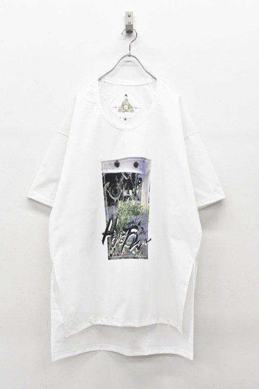 アーカイブ BALMUNG / グラフィックビッグTシャツ - HOMETOWN 白