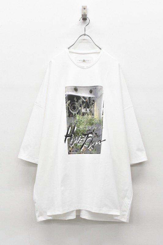 アーカイブ BALMUNG / プリントビッグTシャツ - HOME TOWN 白