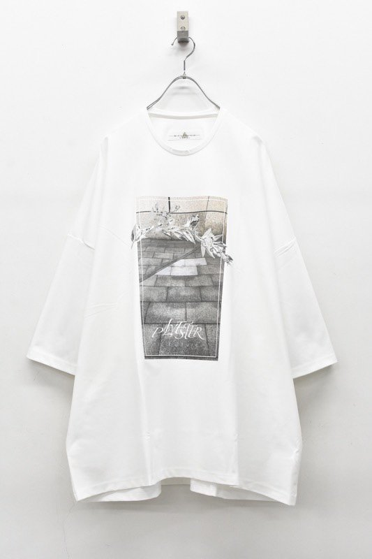 アーカイブ BALMUNG / プリントビッグTシャツ - POLYESTER 白