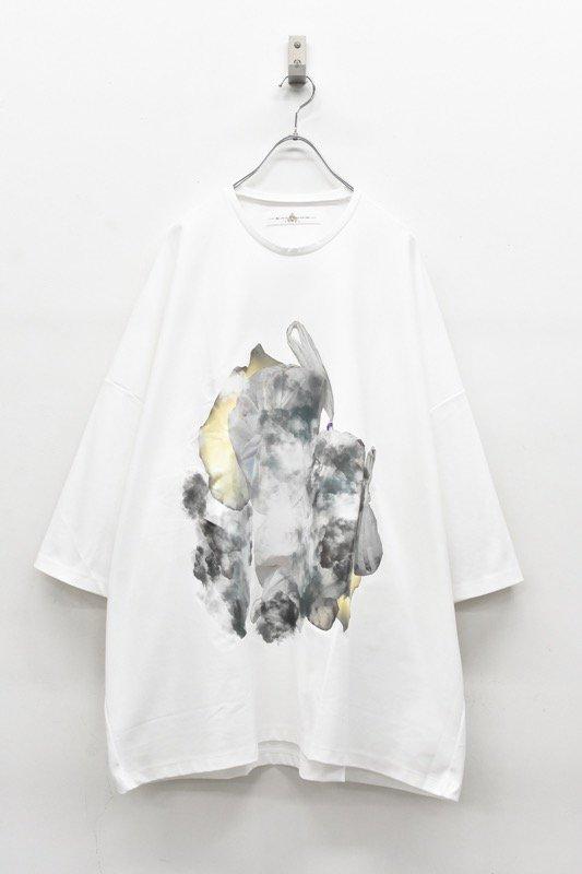 アーカイブ BALMUNG / プリントビッグTシャツ - 塵袋 白