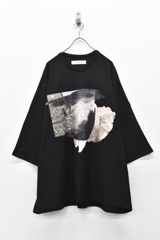 BALMUNG / プリントビッグTシャツ - だまり 黒