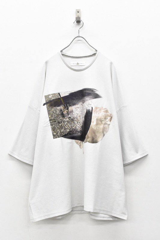 BALMUNG / プリントビッグTシャツ - だまり 灰