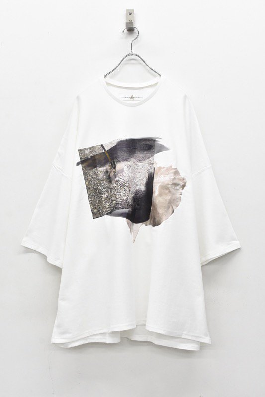 BALMUNG / プリントビッグTシャツ - だまり 白