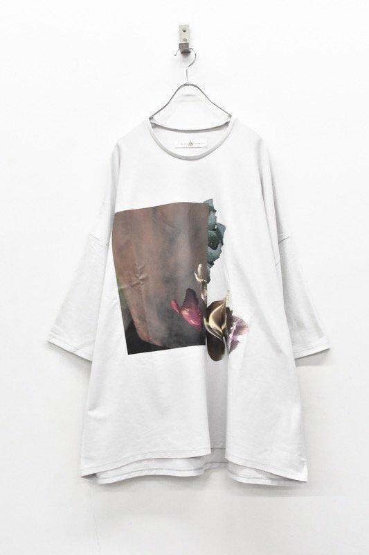 BALMUNG / プリントビッグTシャツ - はな 灰