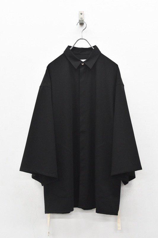 prasthana / long loop big sleeve shirt - BLACK