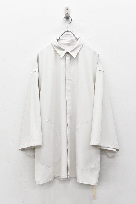 prasthana / long loop big sleeve shirt - OFF WHITE