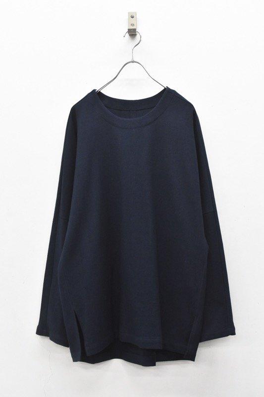 YANTOR / 6Play Khadi Long Pullover - NAVY
