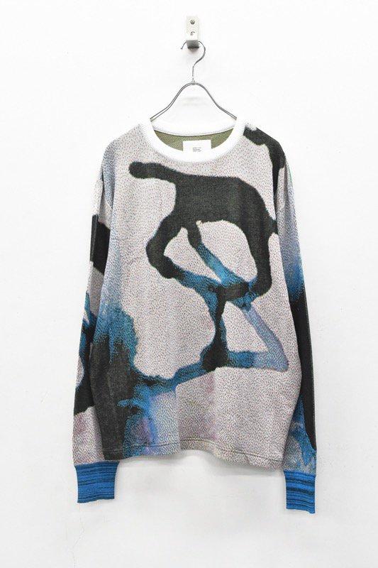 HATRA / Ink Scape Sweater glacier