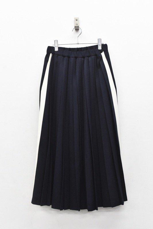 bedsidedrama / Line Pleats Skirt  - NAVY