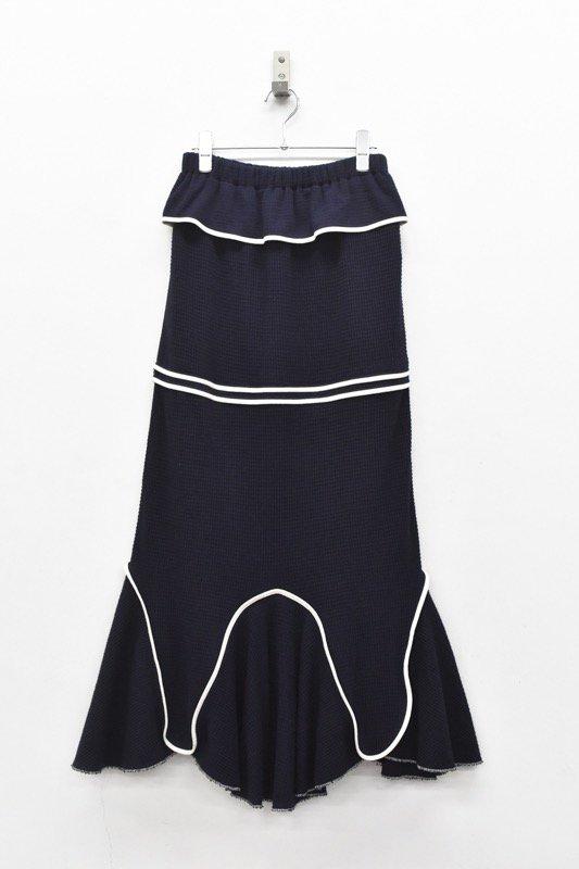 HOUGA / Drawing skirt - NAVY