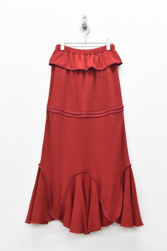 HOUGA / Drawing skirt - RED