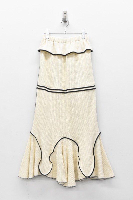 HOUGA / Drawing skirt - WHITE