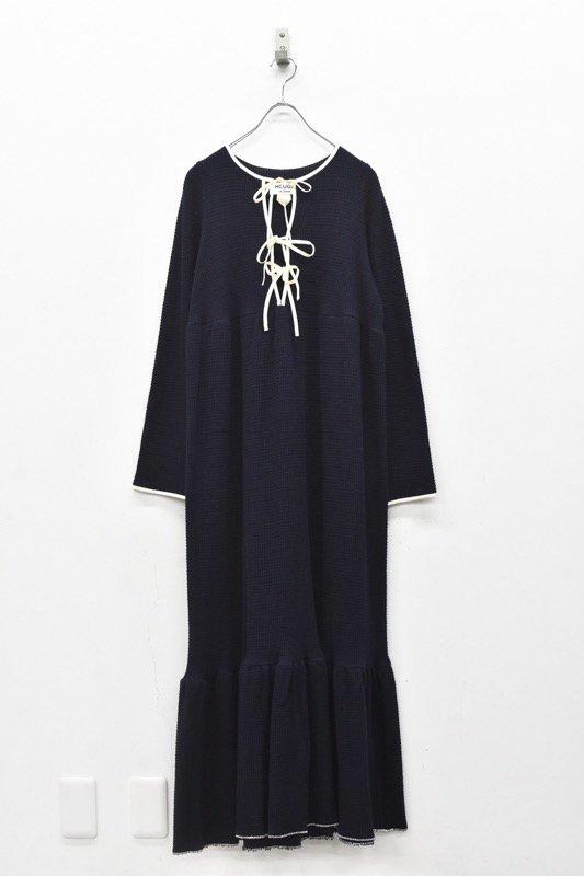 HOUGA / Drawing dress- NAVY
