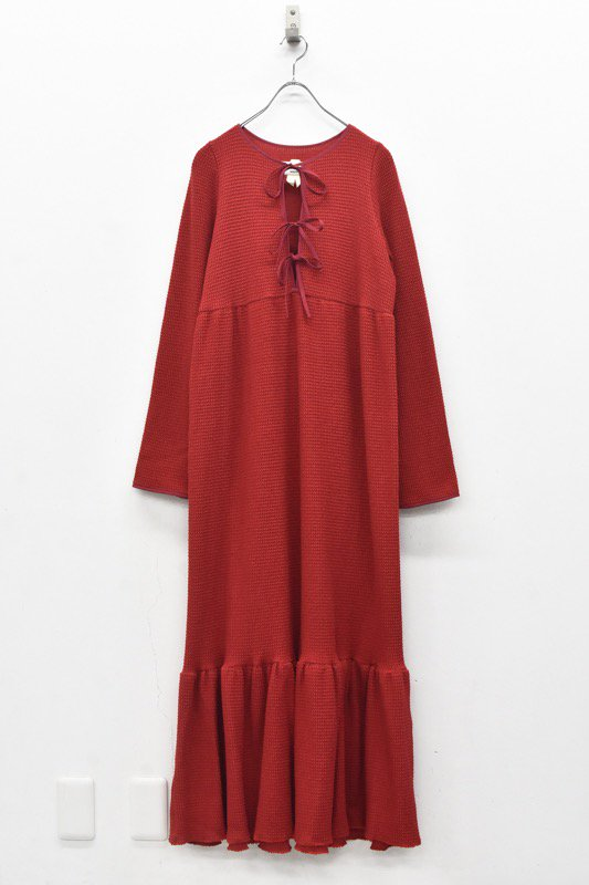 HOUGA / Drawing dress- RED