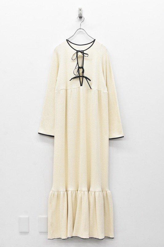 HOUGA / Drawing dress- WHITE