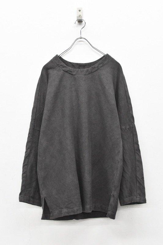 YANTOR / Sumi-Dyed 6Play Khadi Long Pullover