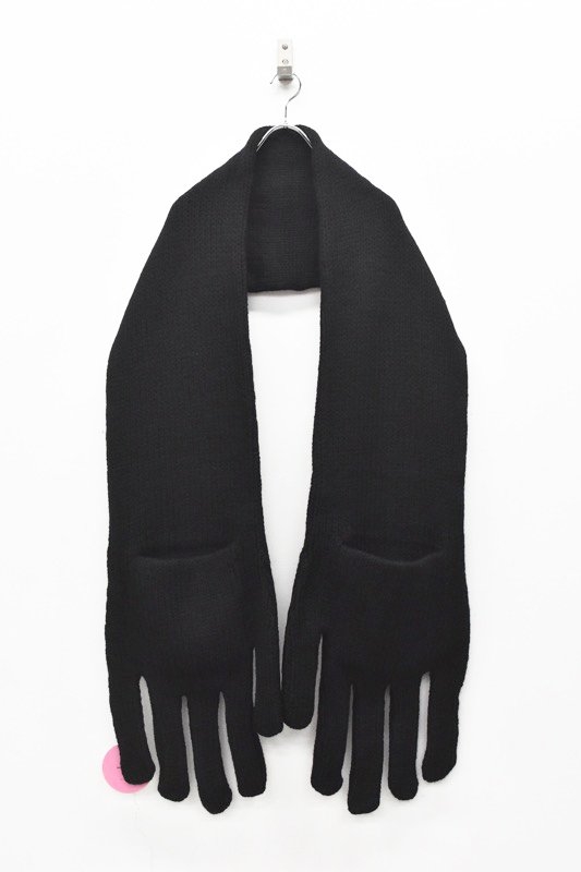 INFANONYMOUS / Hand Knit Scarf - BLACK