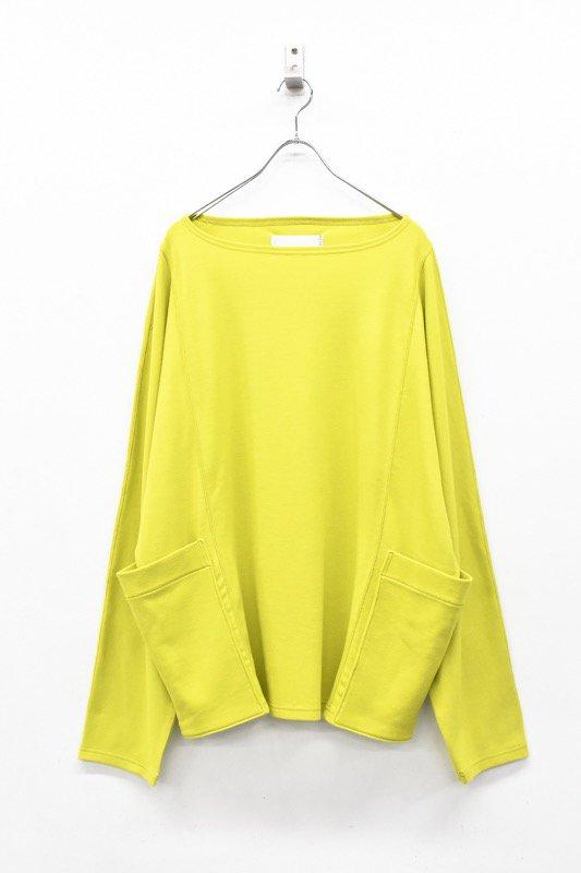 prasthana / compressed wool jersey dolman sleeve PO - LIME GREEN
