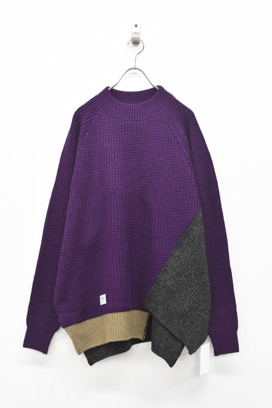 elephant TRIBAL fabrics /Out of alignment knit - PURPLE