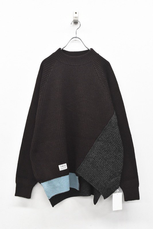 elephant TRIBAL fabrics /Out of alignment knit - BROWN