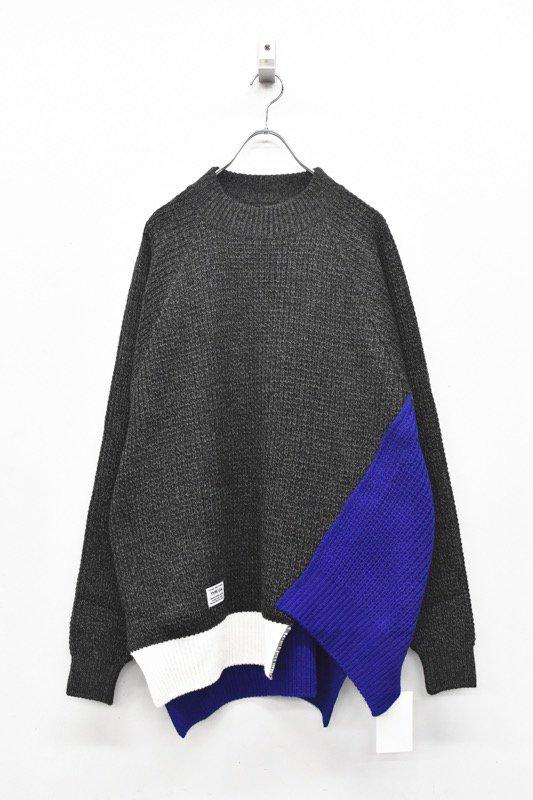 elephant TRIBAL fabrics /Out of alignment knit - CHARCOAL GRAY