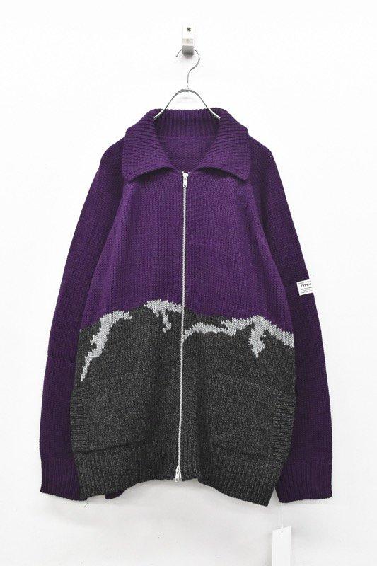 elephant TRIBAL fabrics / William Cowichan sweater - PURPLE