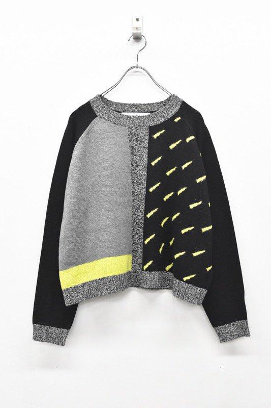 sneeuw / 雨窓セーター - BLACK