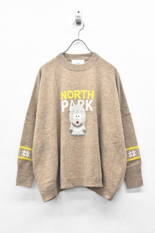 bedsidedrama / NORTH PARK Knit Sweater - BEIGE