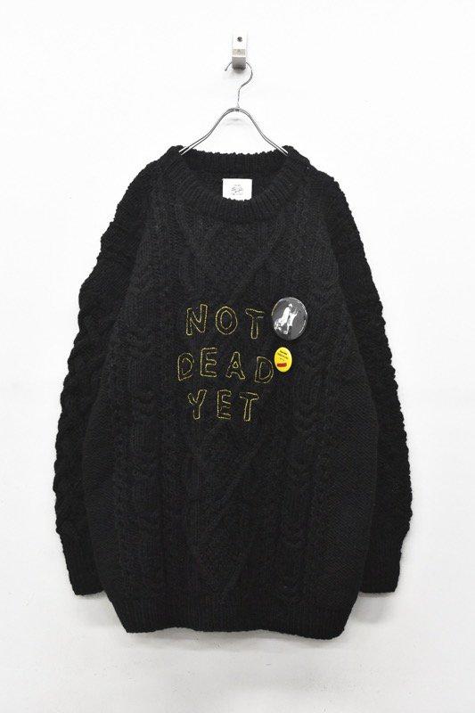 STOF / NOT DEAD YET Alan Sweater - BLACK